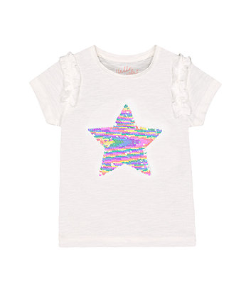 Mothercare Fashion Colour-Changing Sequin Star T-Shirt