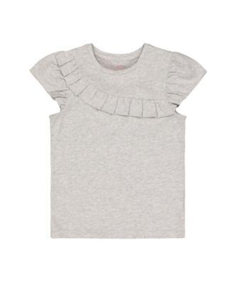 Mothercare Fairytale Grey Marl Frill Short Sleeve T-Shirt