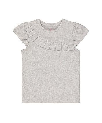 Mothercare Fashion Grey Marl Frill T-Shirt