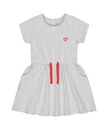 Mothercare Grey Stripe Jersey Dress