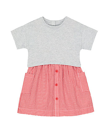 Mothercare Gingham Twofer Dress