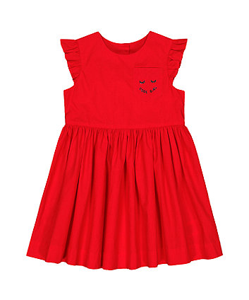 Mothercare Woven Red Cool Girl Dress
