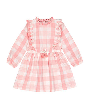 Mothercare Pink Gingham Frill Dress