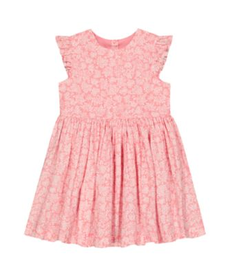 Mothercare Go West Pink Ditsy Woven Short Sleeve Dress