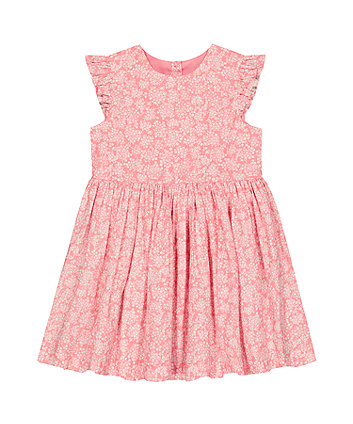 Mothercare Woven Pink Ditsy Floral Dress