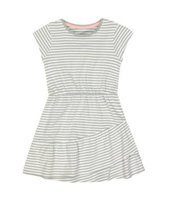 Mothercare Fairytale Striped Short Sleeve Jersey Dress with Frilled Hem