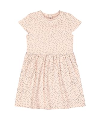 Mothercare Fairytale Pink Spot Short Sleeve Jersey Dress