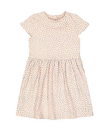 Mothercare Fashion Pink Spot Waisted Dress