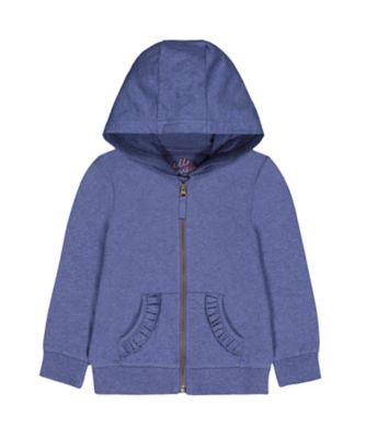 Mothercare Go West Blue Marl Frill Hoodie