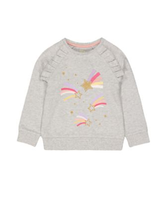 Mothercare Fairytale Grey Star Marl Frill Hoodie
