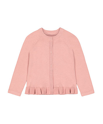 Mothercare Pink Knitted Cardigan