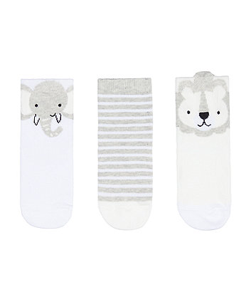 Mothercare Lion Novelty Socks - 3 Pack