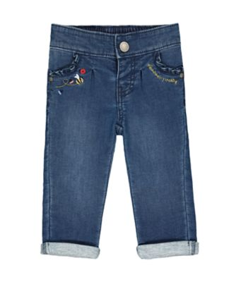 Mothercare Midwest Mid Wash Frill-Pocket Jeans