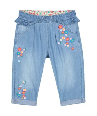 Mothercare Flower Garden Denim Trousers