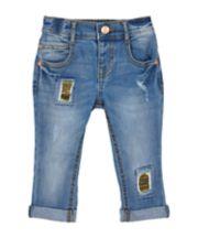 Mothercare Sequin-Patch Boyfriend Jeans