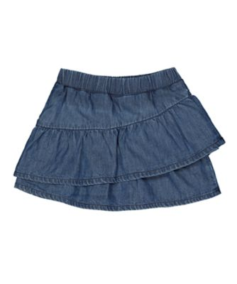 Mothercare Midwest Blue Chambray Tiered Skirt