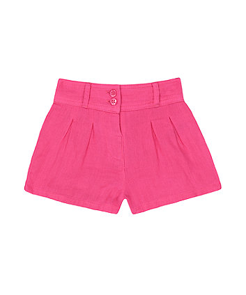 Mothercare Pink Woven Shorts