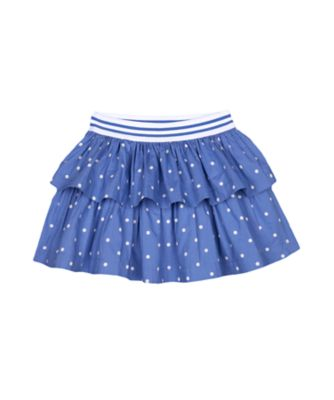 Mothercare Red Alert Blue Spot Tiered Skirt