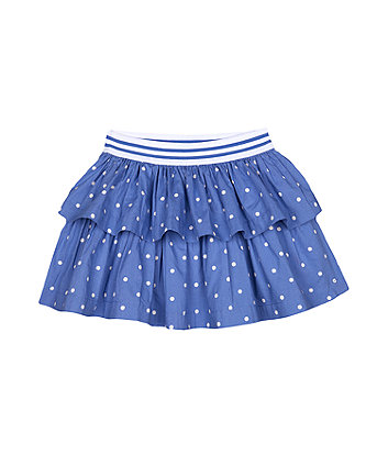 Mothercare Blue Spot Tiered Skirt