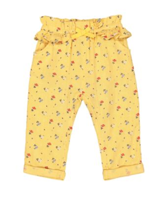 Mothercare Midwest Woven Mustard Ditsy Floral Trousers