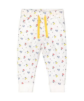 Mothercare Midwest White Floral Joggers