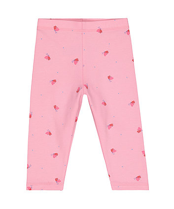 Mothercare Pink Butterfly Leggings