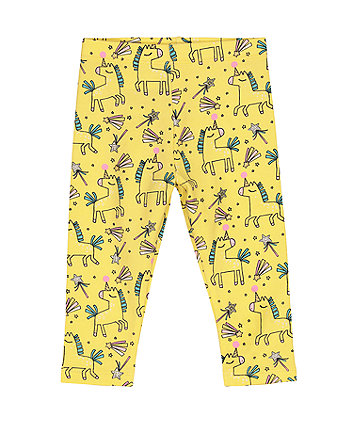 Mothercare Yellow Unicorn Leggings