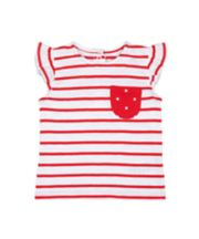 Mothercare Red Stripe T-Shirt