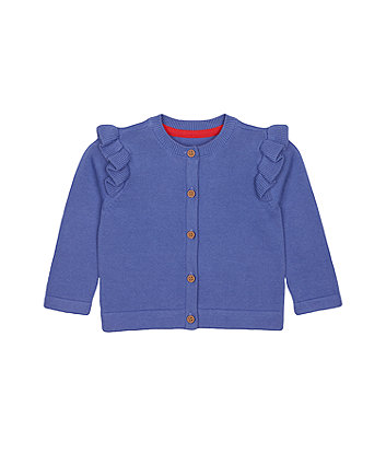 Mothercare Blue Frill Cardigan