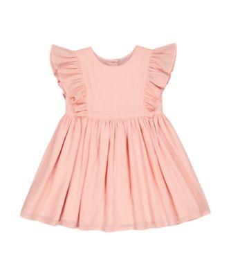 Mothercare Soft Energy Pink Mesh Short Sleeve Dress