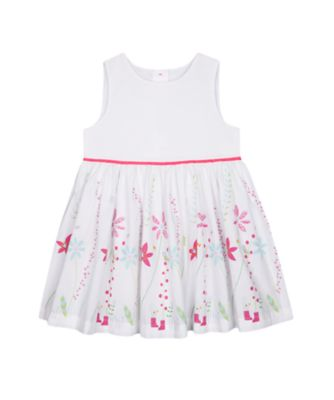 Mothercare Flower Garden White Border-Print Dress