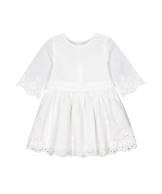 Mothercare Flower Garden White Broderie Long Sleeve Dress