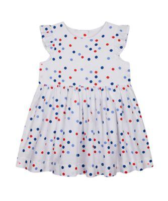 Mothercare Red Alert Woven White Spot Short Sleeve Woven Dress