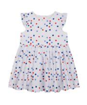 Mothercare Woven White Spot Dress