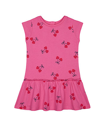 Mothercare Fashion Pink Cherry Drop-Waist Dress