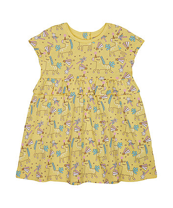 Mothercare Fashion Yellow Unicorn Dress