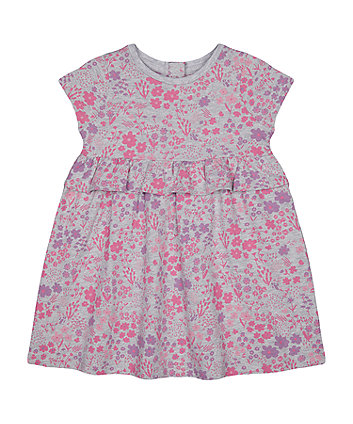 Mothercare Fashion Grey Ditsy Floral Dress