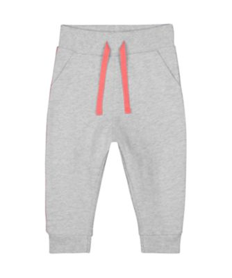 Mothercare Soft Energy Grey Marl Side-Stripe Joggers