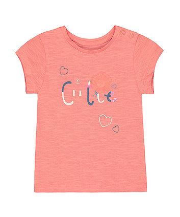 Mothercare Coral Hi Cutie T-Shirt
