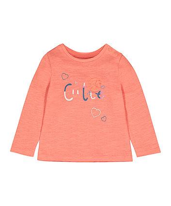 Mothercare Fashion Coral Hi Cutie T-Shirt