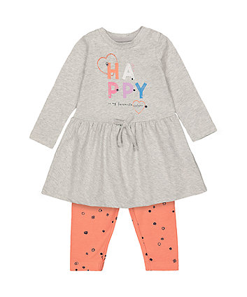 Mothercare Happy Dress And Leggings Set
