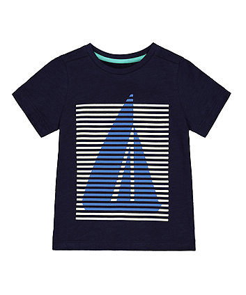Mothercare Navy Boat T-Shirt