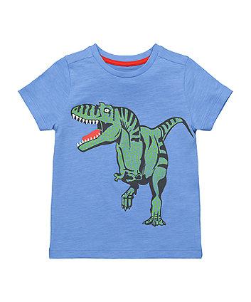 Mothercare Blue Dinosaur T-Shirt