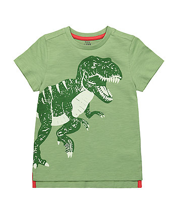 Mothercare Green Glow-In-The-Dark Dinosaur T-Shirt