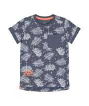Mothercare Navy Dude Tropical Leaves T-Shirt