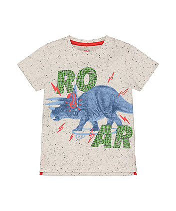 Mothercare Grey Roar Dinosaur T-Shirt