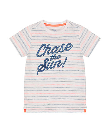 Mothercare Striped Chase The Sun T-Shirt