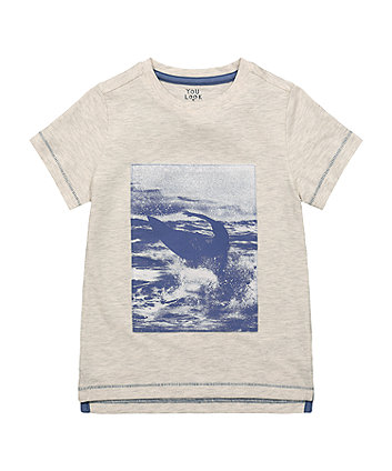 Mothercare Oatmeal Surf Photo T-Shirt