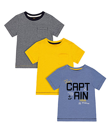 Mothercare Nautical T-Shirts - 3 Pack