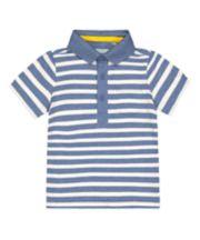 Mothercare Blue Stripe Polo Shirt